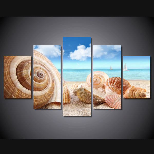 HD Printed Beach sea shells conch Painting on canvas room decoration print poster picture canvas Free shipping/ny-2096