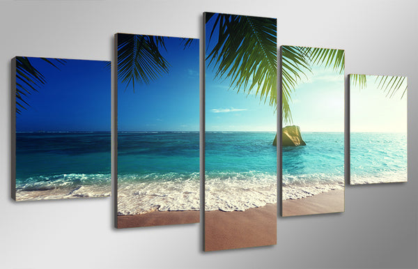 HD Printed tropical paradise beach coast Group Painting room decor print poster picture canvas Free shipping/ny-1436