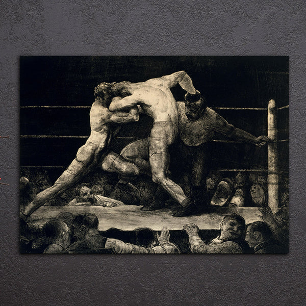 HD Printed 1 Piece Canvas Art Abstract Wrestling Painting Frame Sketch Print Wall Picture for Living Room Free Shipping NY-6995D