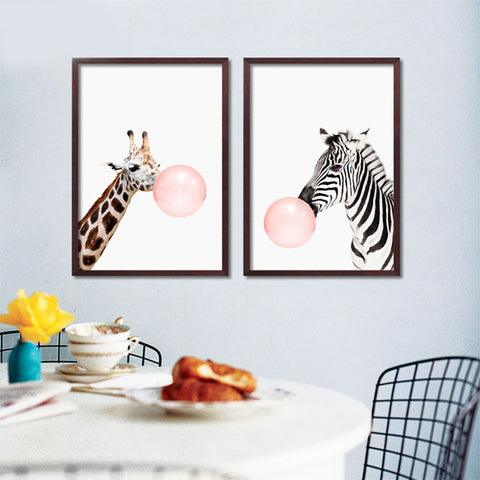 Wall Pictures Bubble Posters And Prints Wall Pictures For Living room Animal Wall Art Canvas Painting Nordic Poster Unframe