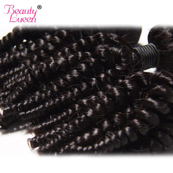 Malaysian Afro Kinky Curly Weave Human Hair Bundles Can Buy 3/4 Bundles Hair Extension BEAUTY LUEEN Non-Remy Hair Weaving