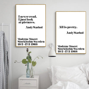 Nordic Poster Posters And Prints Wall Art Canvas Painting Andy Warhol Life Quotes Wall Pictures For Living Room No Poster Frame
