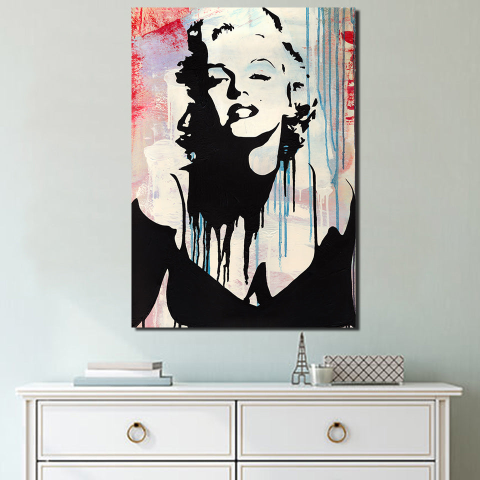 HD Printed 1 Piece Canvas Art Marilyn Monroe Painting pop art Framed Wall Pictures for Living Room Free Shipping NY-7017D