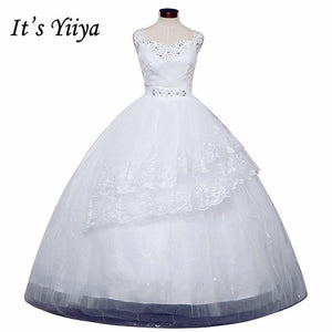 Free shipping new wedding dress 2017 plus size lace up dresses cheap wedding gown made in China frock Vestidos De Novia HS145