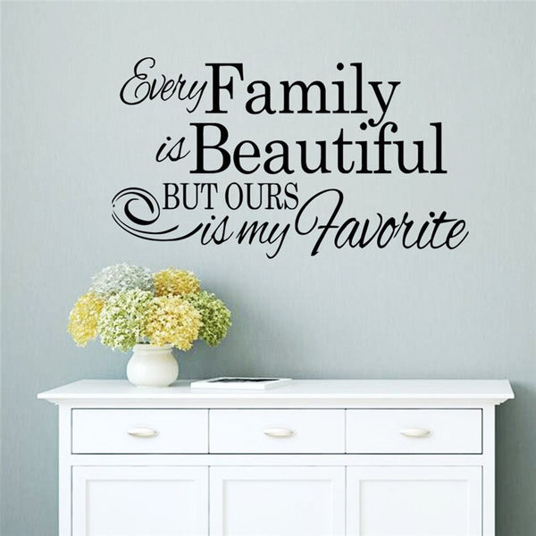 Every family Is beautiful home sticker decor children room bedroom gift vinyl 8530 other wall art new arrival