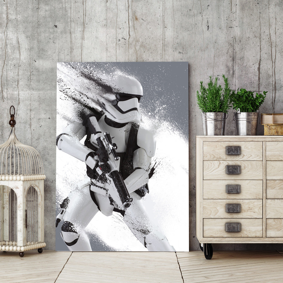 HD Printed 1 piece canvas art Star Wars storm trooper painting wall art Canvas room decor  poster canvas Free shipping/ny-6375
