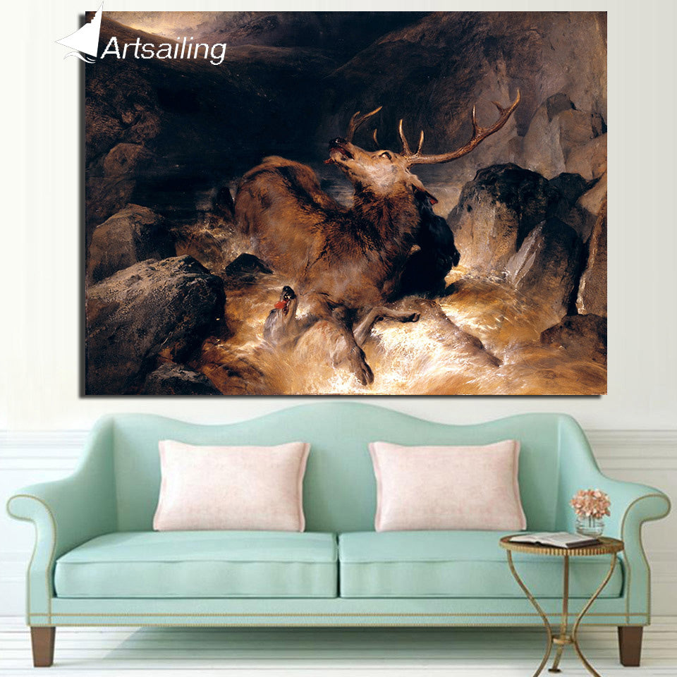 HD Printed 1 Piece Canvas Painting Abstract Deer Canvas Pop Art Pictures for Living Room Decoration Free Shipping ny-6673D