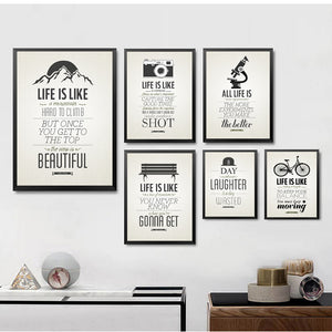 Creative Office Posters Painting Motivational Classroom English Hang Painting Wall Painting Retro Letters Painting HD2204