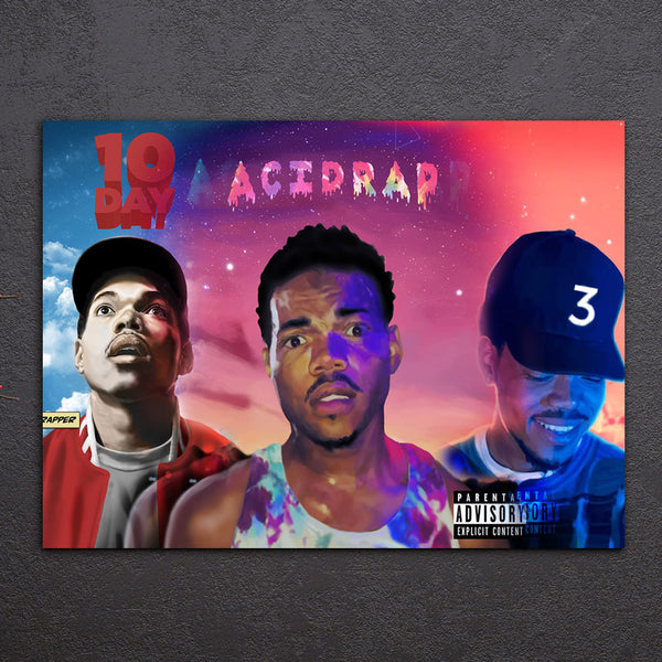 HD Printed 1 piece Chance The Rapper American Music Rap Band Wall Pictures for Living Room Home Decor Free Shipping NY-6783A