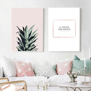 Pineapple Paintings Posters And Prints Wall Art Canvas Painting Wall Pictures For Living Room Nordic Decoration No Poster Frame