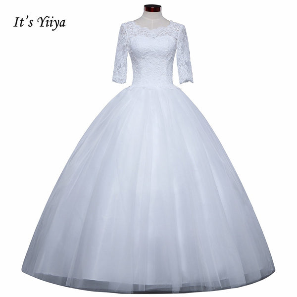 2017 New Free shipping Wedding Ball Gowns Elegant bride frocks Appliques off Wedding dresses Plus size  Vestidos De Novia  IY004