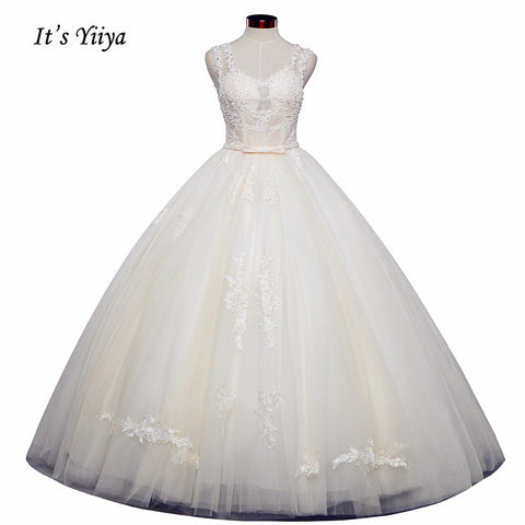 Vestidos De Novia  Free Shipping Ivory Wedding dresses Bridal Ball gowns Sexy Sleeveless Frocks Lace Simple shoulder dress IY026