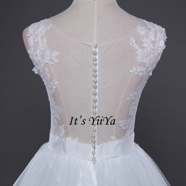 Vestidos De Novia  Free Shipping Built in Bra Simple  Off white Wedding dresses Bridal Ball gowns Sexy Sleeveless Frocks IY024