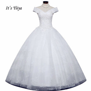 Free Shipping Vestidos De Novia Off white Bridal dress Sweatheart Bridal Ball gowns Sleeveless Frocks Lace Wedding dresses IY028
