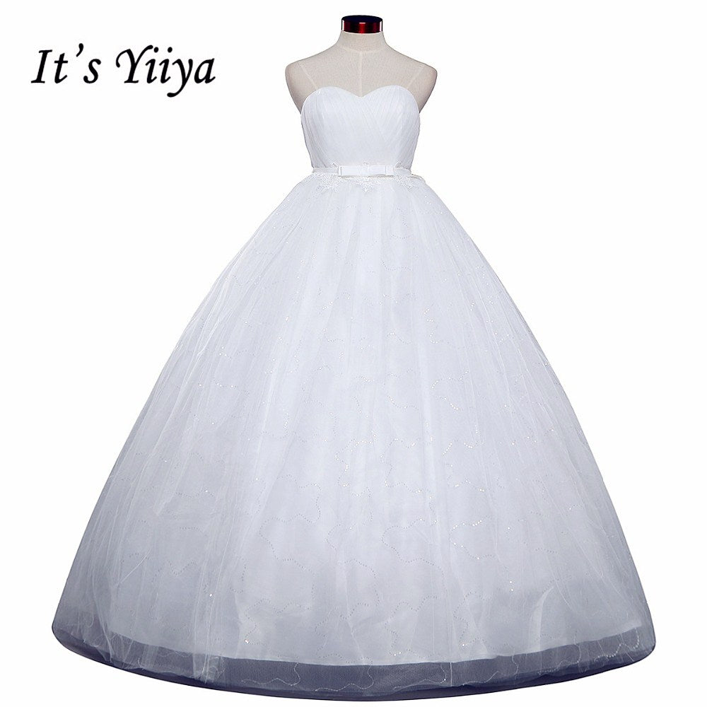 Free shipping White Wedding Ball Gowns Strapless Sex Sleeveless Cheap Princess Vestidos De Novia Wedding Frock Bride Dress HS241