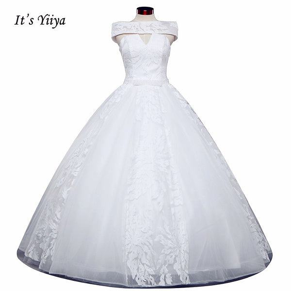 Vestidos De Novia Free Shipping Off white Bridal dress Bridal Ball gowns Sleeveless Frocks Lace Wedding dresses IY027