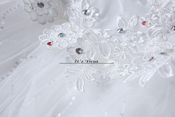 Free Shipping 2017 Short Sleeves Red White Lace Bling Wedding Dresses Plus size Sequins Princess Bride Frocks Gowns XXN175