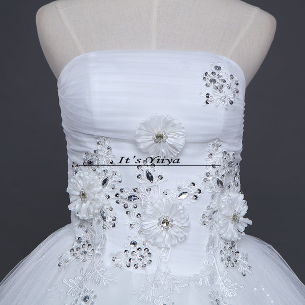 HOT Free shipping new 2015 white princess fashionable lace wedding dress romantic tulle wedding dresses Vestidos De Novia HS111