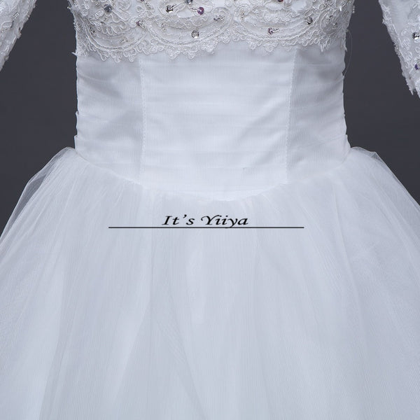 Free shipping new arrival White Boat neck Half Sleeves Quality Princess Sex Wedding Dress Frock Gowns Vestidos De Novia DH1560