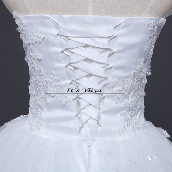 Free shipping New 2017 Summer Ruffles Bling Strapless Wedding Dresses Plus size Princess Bride Gowns Vestidos De Novia HS255