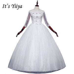 Free shipping New 2017 Summer Full Sleeves Pregnancy Wedding Dresses Plus size Princess Bride Gowns Vestidos De Novia HS256