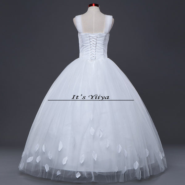 Free shipping New 2017 Summer Strapless Tulle Simple Wedding Dresses Plus size Princess Bride Frocks Vestidos De Novia HS250
