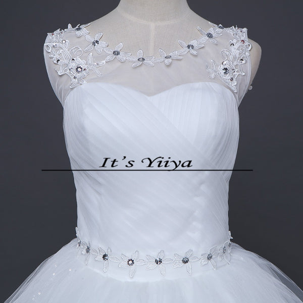 Free shipping wedding dresses 2015 white plus size lace up cheap China wedding gowns white bridal dress Vestidos De Novia HS157