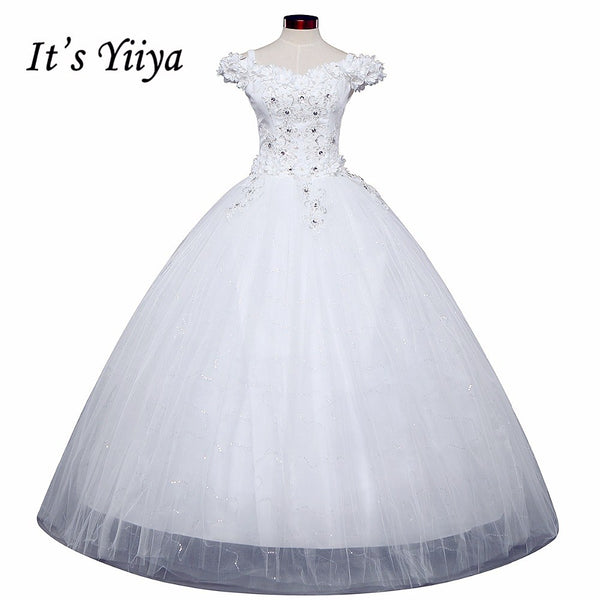 Free shipping New 2016 Wedding Dresses Sexy Lace White Wedding Ball Gowns Wedding Frocks Wedding Dress Vestidos De Novia H82
