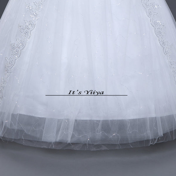 Free shipping White Wedding Ball Gowns Boat Neck Short Sleeves Cheap Princess Vestidos De Novia Wedding Frock Bride Dress HS235