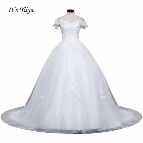 Free Shipping Wedding dresses Sweetheart Vestidos De Novia Off white dress Bridal Ball gowns Long train Sleeveless Frock IY037