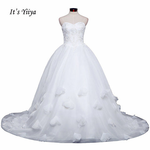 Free shipping New Arrival Strapless Sleeveless Wedding Dresses Long Train Gowns Appliques Frocks dress Vestidos De Novia IY010