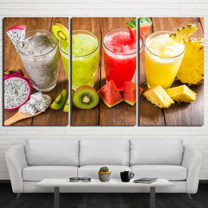 HD Printed 3 Piece Canvas Art Shaved ice Drink Painting Wall Pictures for Living Room Fruit Food Poster Free shipping NY-6968D
