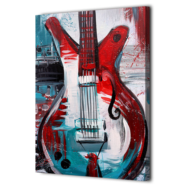 HD Printed 1 Piece Canvas Art Abstract Guitar Painting Vintage Wall Pictures for Living Room Home Decor Free Shipping NY-7069D
