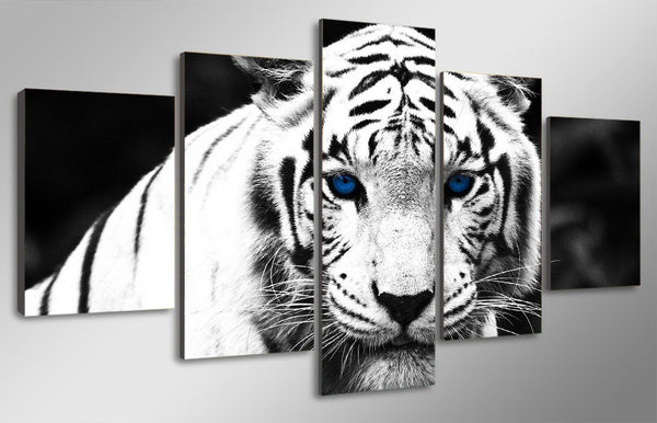 HD Printed White Tiger Landscape Group Painting room decor print poster picture canvas Free shipping/ny-027