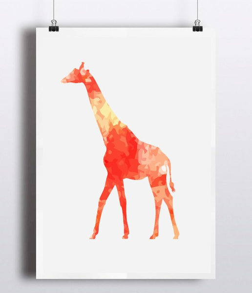 Vintage Giraffe Canvas Art Print Painting Poster, Wall Pictures For Home Decoration wall art decor,FA240