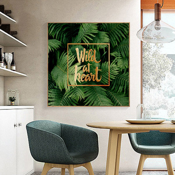 Posters And Prints Nordic Decoration Green Plant Wall Pictures For Living Room Cuadros Wall Art Canvas Painting No Poster Frame