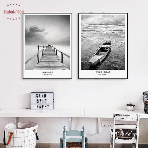 900D Posters And Prints Wall Art Canvas Painting Wall Pictures For Living Room Nordic Landscape Picture Decoration NOR022