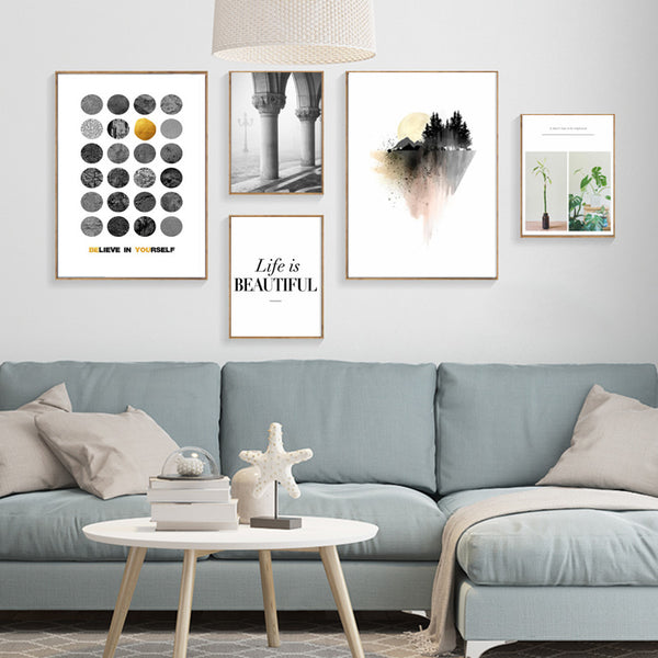Wall Pictures Art Print Poster Wall Art Canvas Painting Grey Beauty Posters And Prints Nordic Decoration Cuadros Poster Unframed