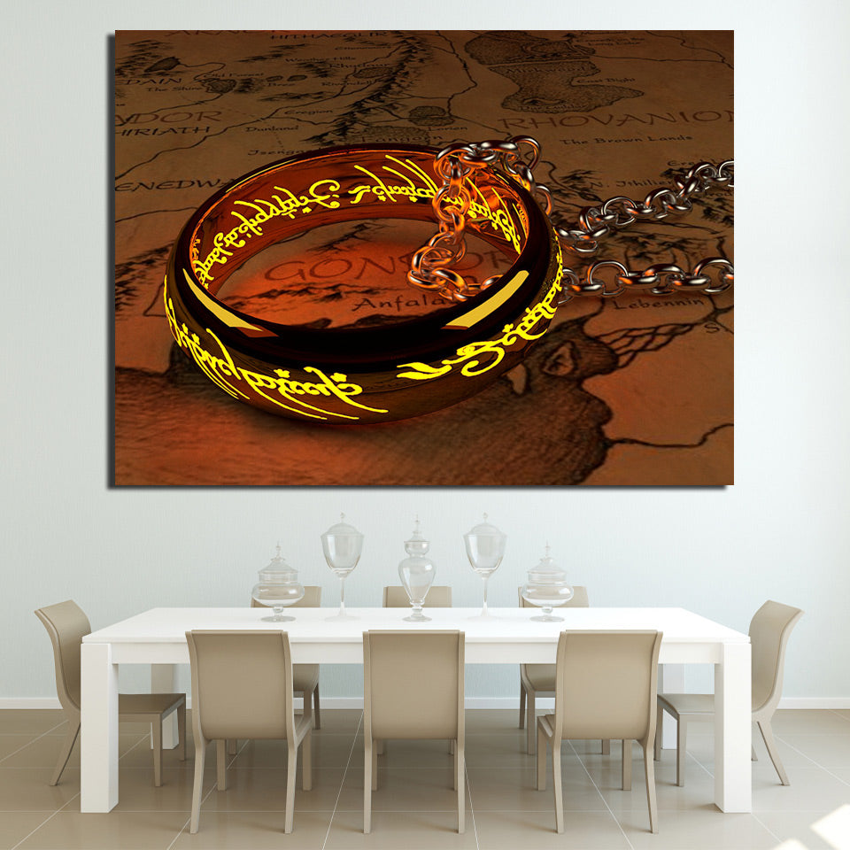 HD Printed 1 Piece Canvas Art Lord of the Rings Painting Vintage Posters Wall Pictures for Living Room Free Shipping NY-6991D