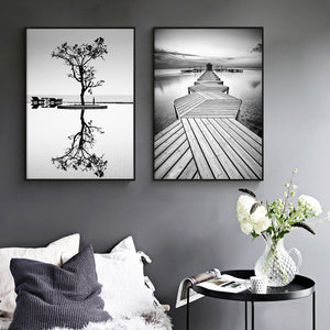 Posters And Prints Tree In Water Landscape Wall Pictures For Living Room Picture Wall Art Canvas Painting Nordic Poster Unframed