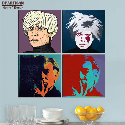 DPARTISAN andy warhol self picture oil painting POP Art Print on canvas for wall decoration poster wall painting no frame arts
