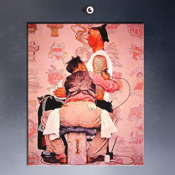 the-tattooist-1944 By NORMAN ROCKWELL oil Painting print on canvas for home decoration poster