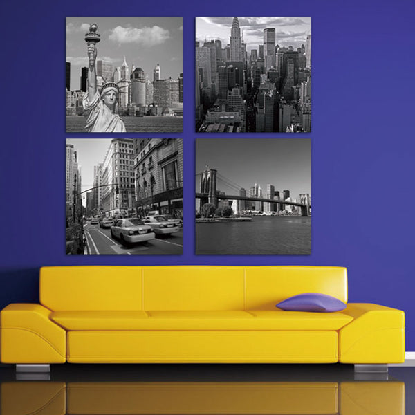 Fantastic Chicago Skyline Wall Art Motif - Wall Art Design ...