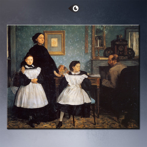 the-belleli-family-1862 by  EDGAR DEGAS artist portrait wall painting art print on canvasfor wall picture
