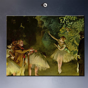 ballet-rehearsal by  EDGAR DEGAS artist portrait wall painting art print on canvasfor wall picture