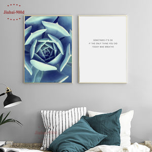 900D Posters And Prints Wall Art Canvas Painting Wall Pictures For Living Room Nordic Cactus Decoration NOR025