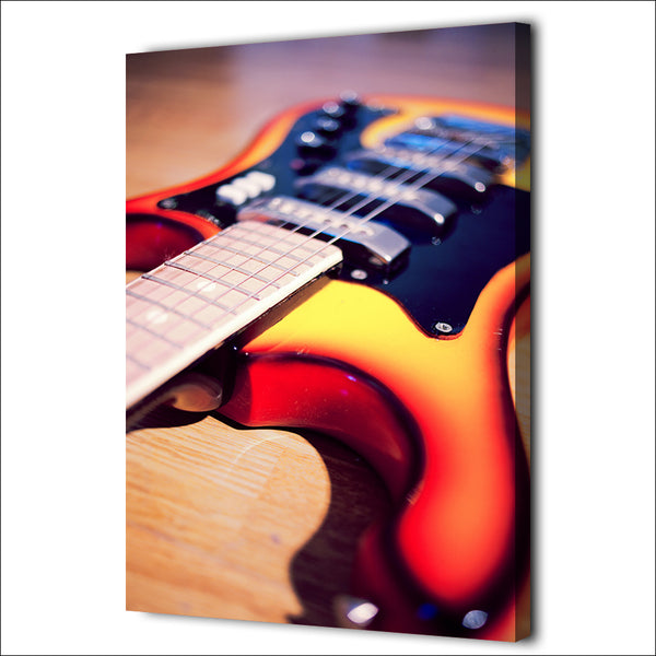 HD Printed 1 Piece Canvas Art Music Instrument Guitar painting Vintage Wall Pictures for Living RoomFree shipping NY-7014D