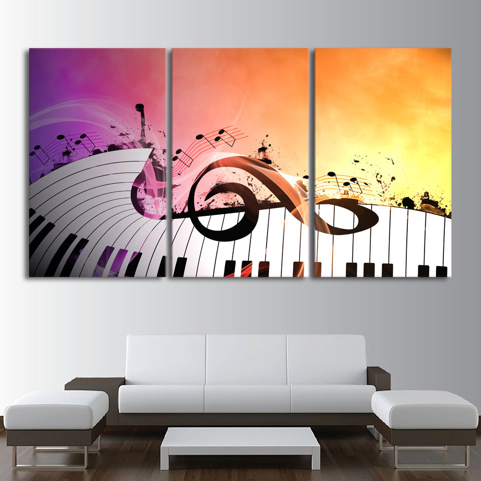 Hd Printed 3 Piece Canvas Art Piano Keys Painting Music Character Wall Pictures For Living Room Decoration Free Shipping Xa1745c