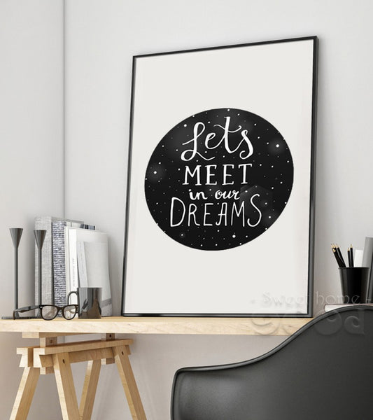 Dream Quote Canvas Art Print Painting Poster, Wall Pictures For Home Decoration, Wall Decor S007