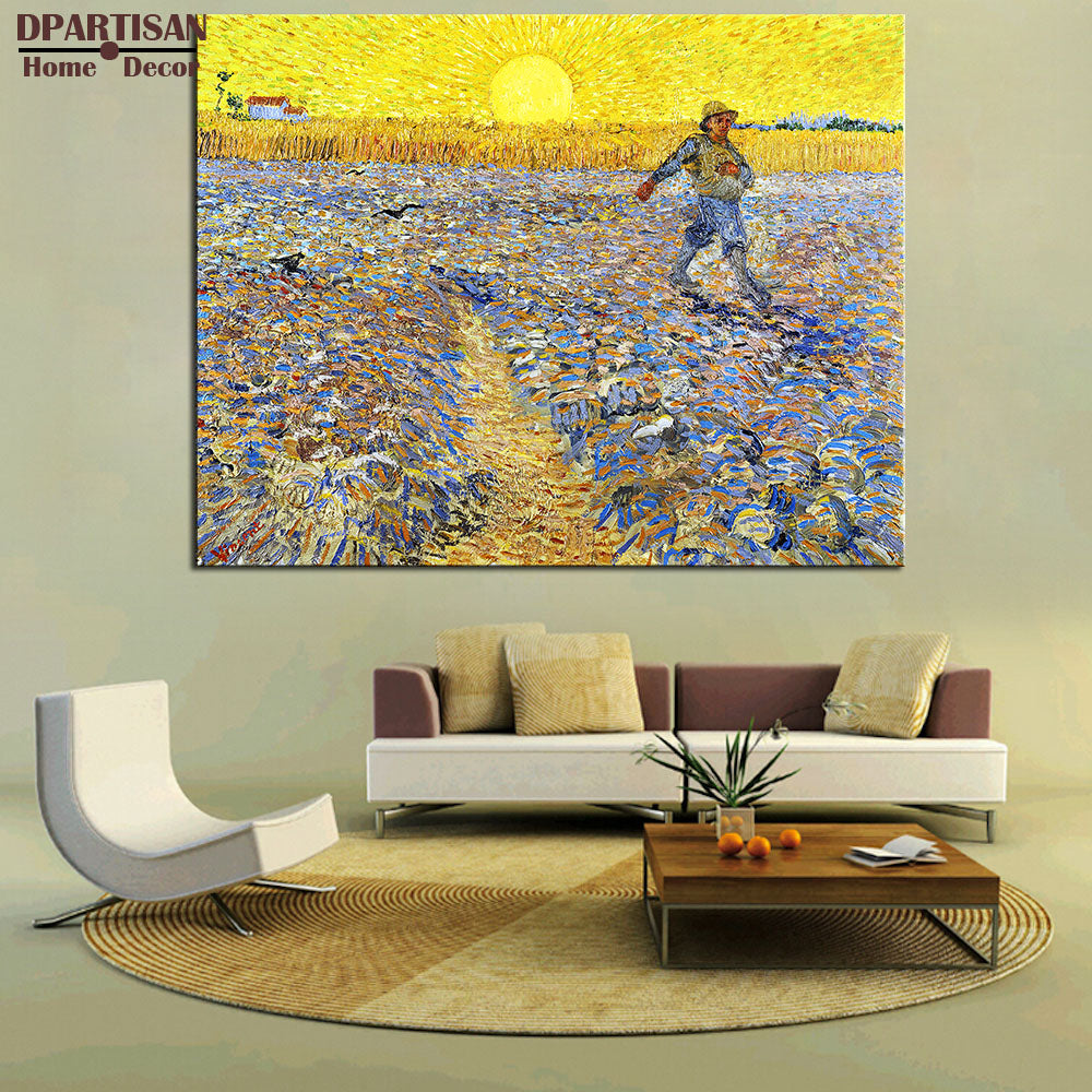 DPARTISAN VINCENT VAN GOGH The Sower c1888  print CANVAS WALL ART PRINT ON CANVAS OIL PAINTING no frame wall pictures home decor